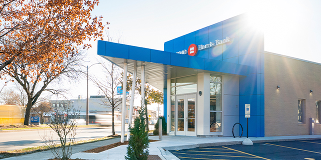 A BMO Harris Bank branch