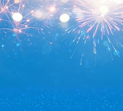 Fireworks sparks